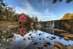 Mill on a Dam stock image