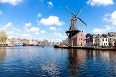 Mill de Adrián en Haarlem Imágenes de archivo libres de regalías