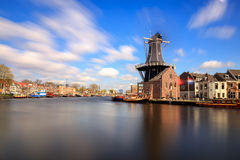 Mill de Adriaan in Haarlem Stock Photography