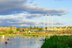 Mill District Bend Oregon. Mill District of Bend, Oregon Stock Photography