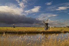 Mill with dramatic sky stock photo