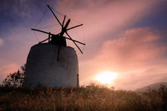 Mill dream. Old mill of the Malveira area, Portugal Stock Photos