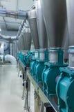 Mill factory interior Stock Photos