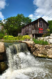 Mill and Falls. A mill and waterfall in Ontario Stock Image