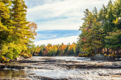 Mill falls in fall Stock Photography
