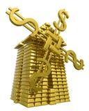 Mill of gold ingots Stock Photo