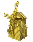 Mill of gold ingots. Symbol of success Stock Illustration