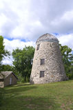 Mill and Granary in Minneopa Park. Old gristmill and granary buildings restored to original in Minneopa State Park near Mankato Minnesota Stock Photo