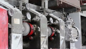 Mill for grinding wheat stock video footage