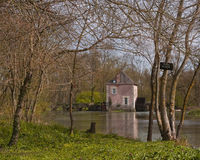 Mill house. An old mill house on the river Indre in France Royalty Free Stock Images