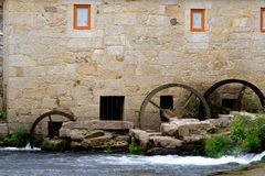 Tilt and shift lens mill-house. A mill-house detail in Vilar de Mouros place in Portugal with a tilt and shift lens stock photography