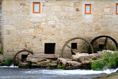 Tilt and shift lens mill-house. A mill-house detail in Vilar de Mouros place in Portugal with a tilt and shift lens royalty free stock images