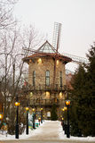 The mill house hotel in the evening. Saint-Petersburg Royalty Free Stock Photo