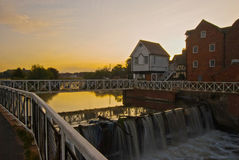 Mill house. The old mill house after floods in Tewksbury taken at sun rise Stock Images