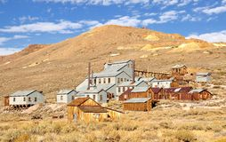 Mill and houses in Bodie State Historic Park Stock Photo