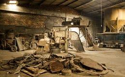 Mill I. Abandoned factory interior. Economic Depression stock photography