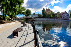 Mill Island - Brda River in Bydgoszcz - Poland Royalty Free Stock Photos
