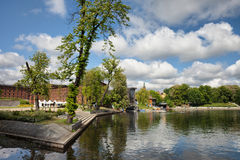 Mill Island and Brda River in Bydgoszcz Royalty Free Stock Images