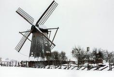 Mill on the island of Saaremaa, Estonia Royalty Free Stock Images