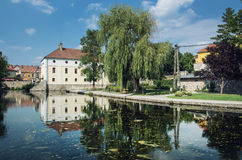 Mill lake, Tapolca, Hungary, central Europe Royalty Free Stock Photos