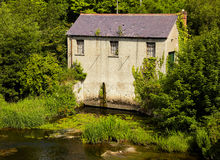 Mill on Liffey river Royalty Free Stock Photography