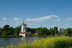 Mill Near River Rotte Stock Photo