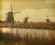 Mill Network at Kinderdijk-Elshout Stock Photography