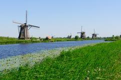 Mill Network at Kinderdijk-Elshout, Netherlands Stock Photography