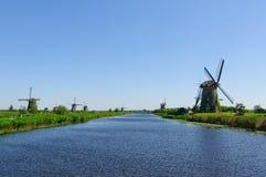Mill Network at Kinderdijk-Elshout, Netherlands Royalty Free Stock Photos