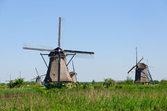 Mill Network at Kinderdijk-Elshout, Netherlands royalty free stock photos