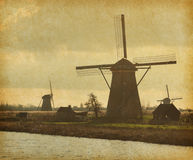 Mill Network at Kinderdijk-Elshout Stock Photos