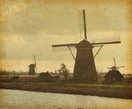 Mill Network at Kinderdijk-Elshout Stock Photos