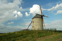 Mill in Normandy. Windmill in  north france near mont saint michel Royalty Free Stock Photography
