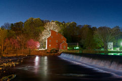 The Mill. The red mill in Clinton New Jersey Royalty Free Stock Photo