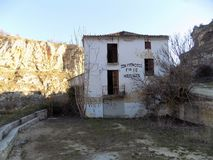 Mill and ruins- Alhama de Granada Royalty Free Stock Photography