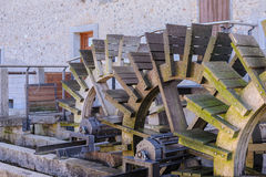 Mill,shovel by wood Royalty Free Stock Photos