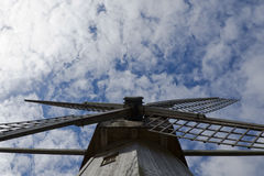 Mill on the sky background Royalty Free Stock Images