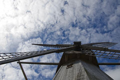 Mill on the sky background Royalty Free Stock Photo