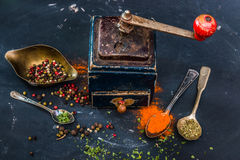 Mill for spices Royalty Free Stock Image