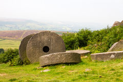 Mill stones in the peak distict Royalty Free Stock Image
