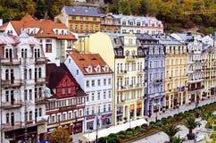 Mill street, Karlovy Vary, Czech Republic Royalty Free Stock Photography