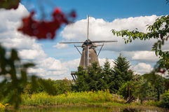 Mill in summer day Royalty Free Stock Image