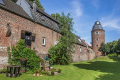 Mill tower in the  historic center of Kranenburg Royalty Free Stock Images
