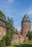 Mill tower in the  historic center of Kranenburg Stock Images
