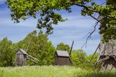 The mill, Vabaohumuuseumi kivikulv. TALLINN, ESTONIA - YUNI 15, 2015: The Windmill in Museum Estonian open air, Vabaohumuuseumi kivikulv, Rocca al Mare, Tallinn Royalty Free Stock Image