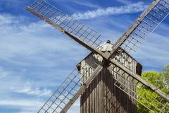 The mill, Vabaohumuuseumi kivikulv. TALLINN, ESTONIA - YUNI 15, 2015: The Windmill in Museum Estonian open air, Vabaohumuuseumi kivikulv, Rocca al Mare, Tallinn Royalty Free Stock Photography