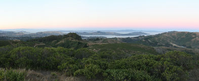 Mill Valley. Panoramic view of Mill valley, California Royalty Free Stock Photo
