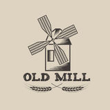 Mill vector design template Royalty Free Stock Photo