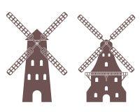 Mill. Vector illustration (EPS 10 Royalty Free Stock Photo