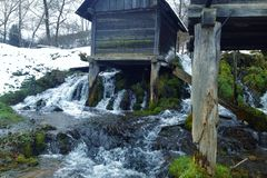 mill on water Royalty Free Stock Images